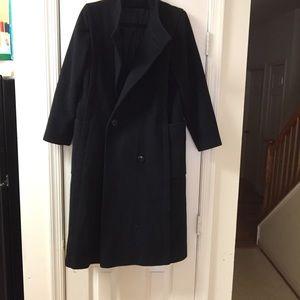 Vtg JILL JR. Winter Pea Coat 100% Wool Trench Long